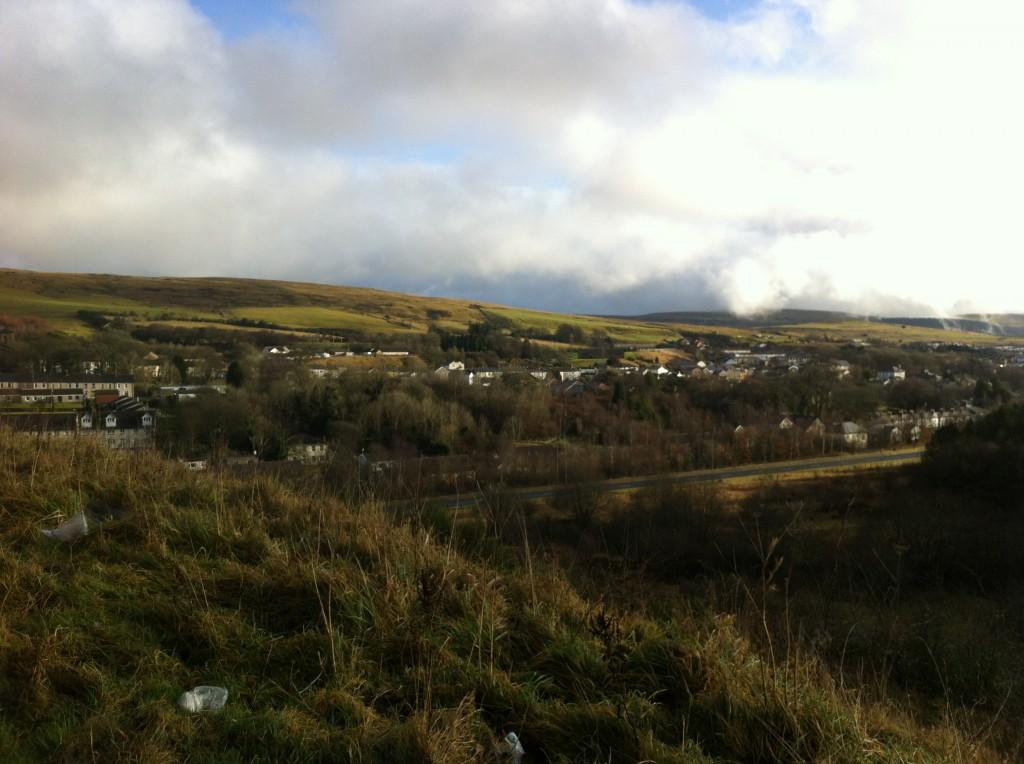 Rhymney from the hillside opposite the town