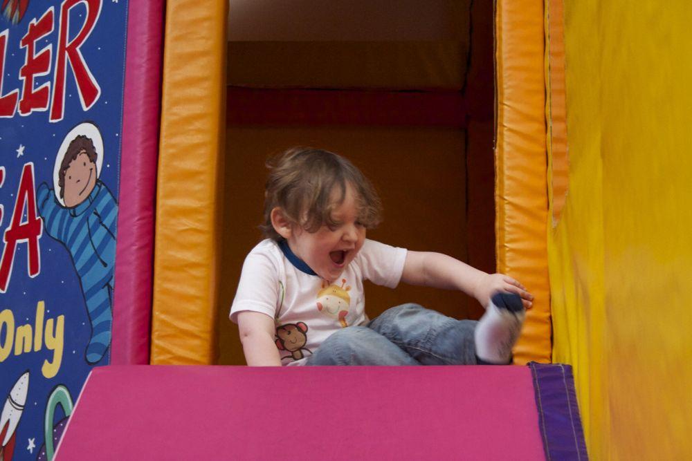 Ben on the soft slide