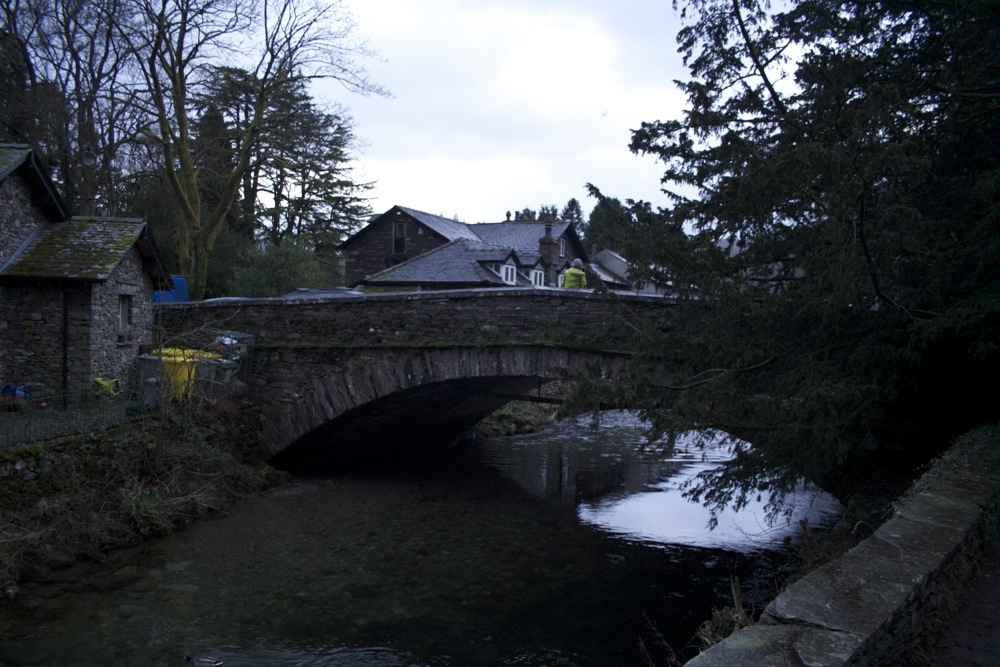 The bridge from the churchyard