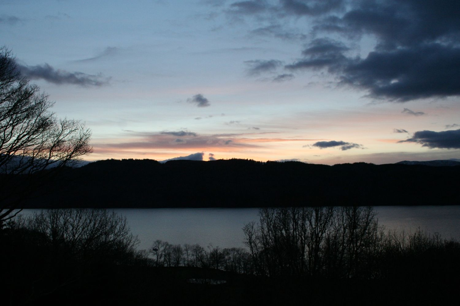 Looking over Windermere at Sunset
