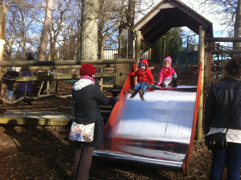 Kids in the adventure playground