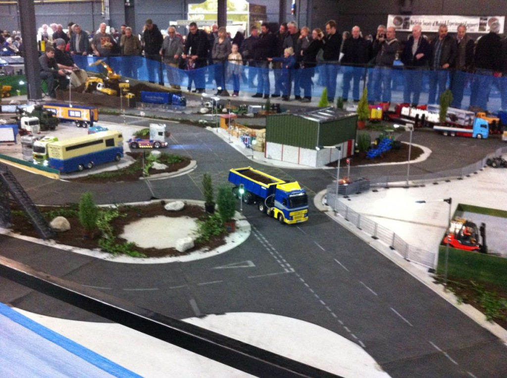 The giant model truck area was superb and Elliott was fascinated by it