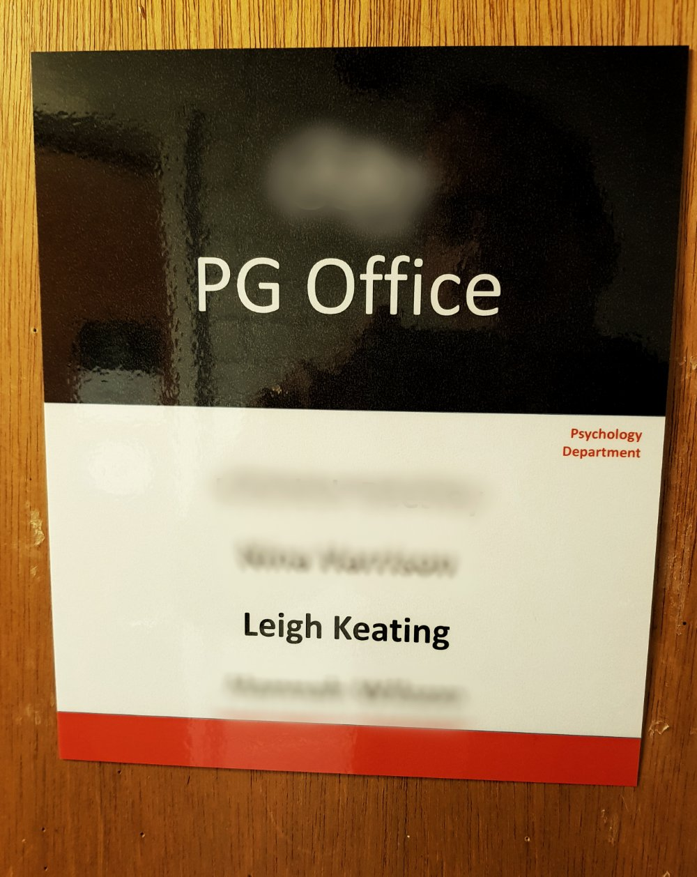 LEIGH'S OFFICE DOOR