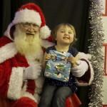 Layla smiles for Santa